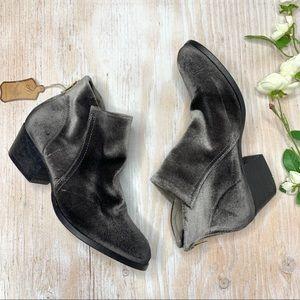 Hudson London Apisi Grey Velvet Heeled Ankle Boots